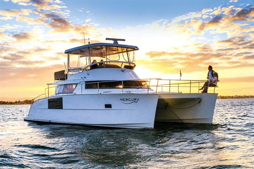 Fountaine Pajot Cumberland 47LR at rest