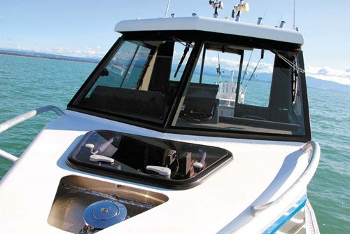 Bow of Osprey 630 Open Hard Top