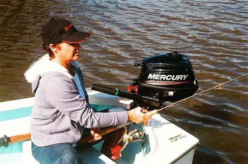 Four-stroke portable Mercury outboard