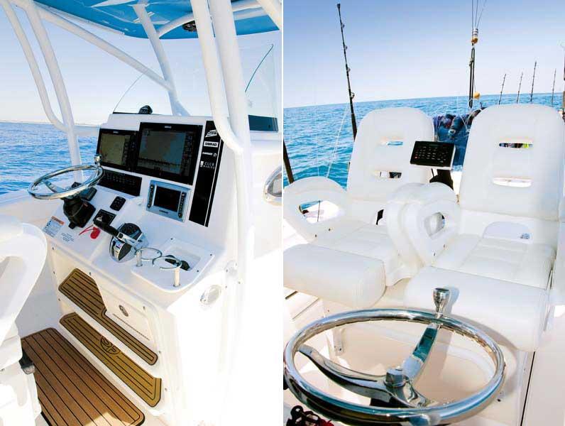 Centre-console on Seafox 286 Commander