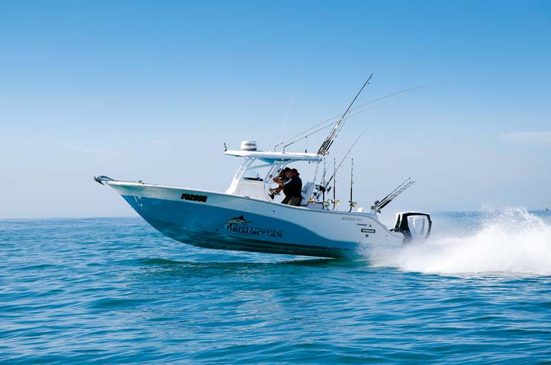 Seafox 286 Commander on the water