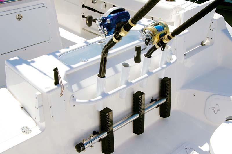 Rod holders on Seafox 286 Commander