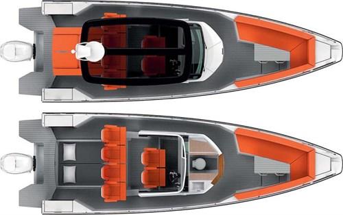 Axopar 28 T-Top deck plans