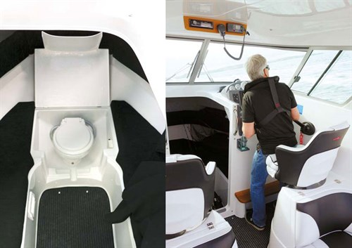 Rayglass Legend 2350 cabin interior