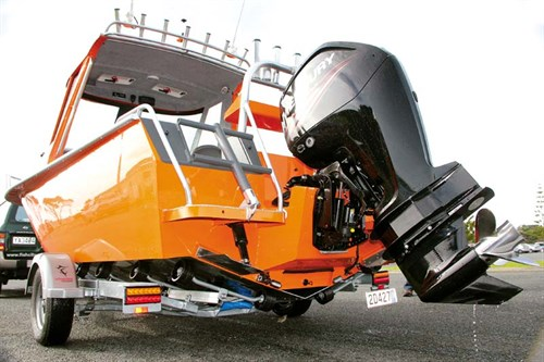 Fish City FC597 HT with 115hp Mercury outboard