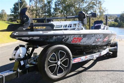 Phoenix 721 ProXP bass boat on trailer