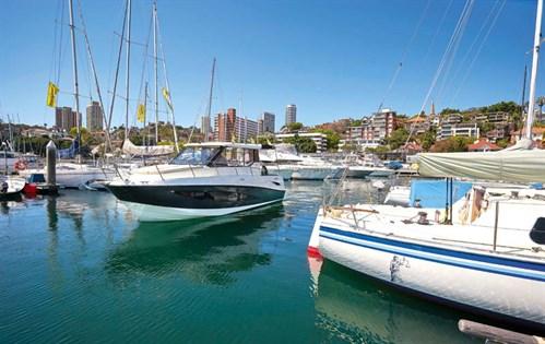 Arvor 855 Weekender docked in Sydney