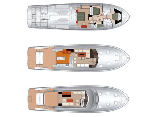 Maritimo M65 plan layout