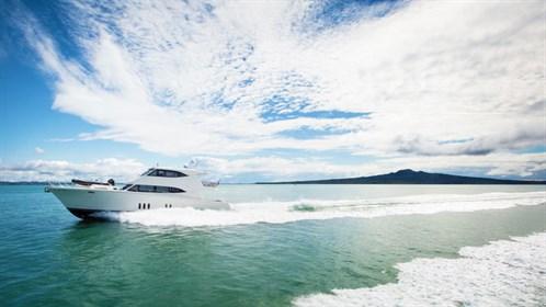 Luxury motor yacht Maritimo M65 on the water