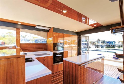 Galley on Maritimo M65