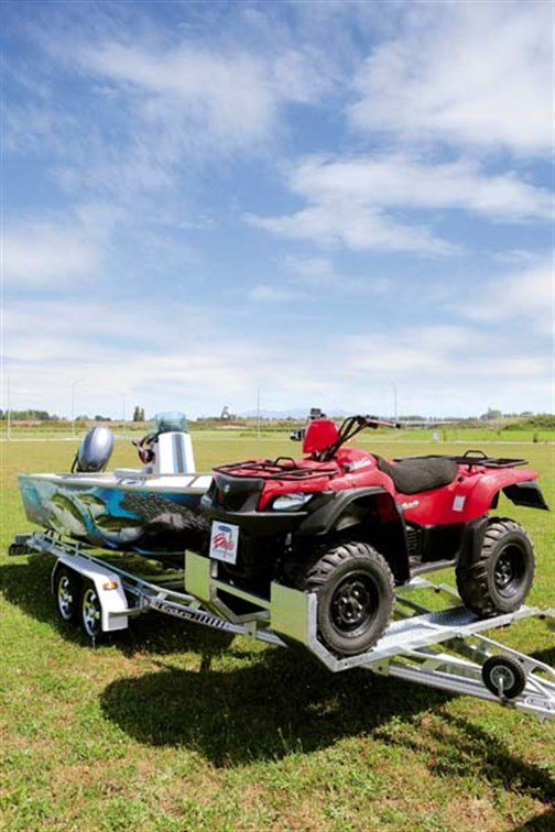 Enduro Boats trailer carrying a quad bike