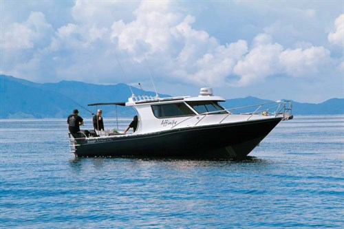 Fishing on an Image 8.75m Fishmaster boat