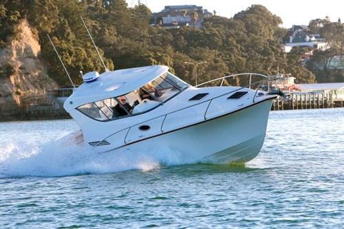 Whitecloud 9 Metre Trailer Launch on the water