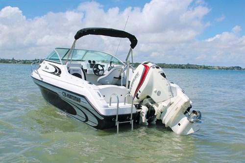 CSB Huntsman Sotalia boat at rest