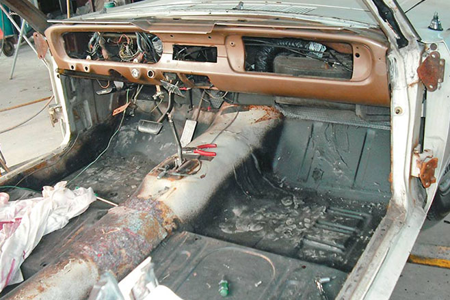 Ford -mustang -resto -before -shell
