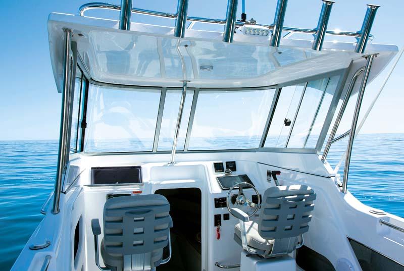 Hardtop on 2016 Northbank fibreglass fishing boat