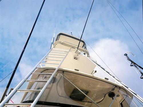 Flybridge on Caribbean 49