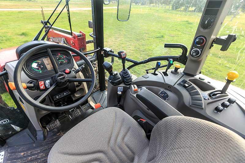 Cabin in Case IH Farmall 95C tractor