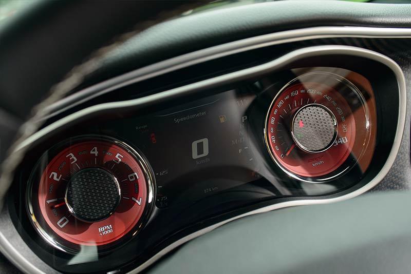 Dodge -hellcat -gauges