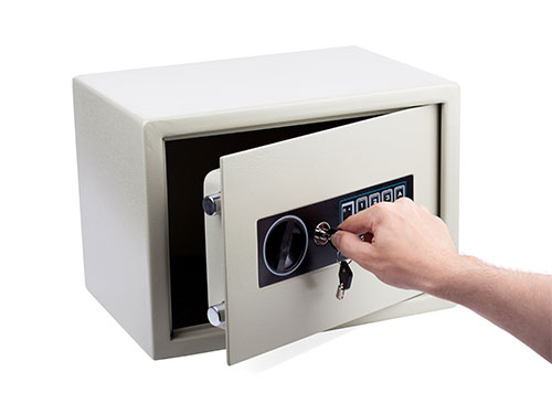 Opening a safe