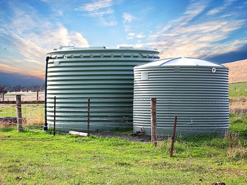 water tanks on australian farm