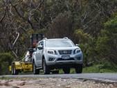 Nissan Navara towing uphill