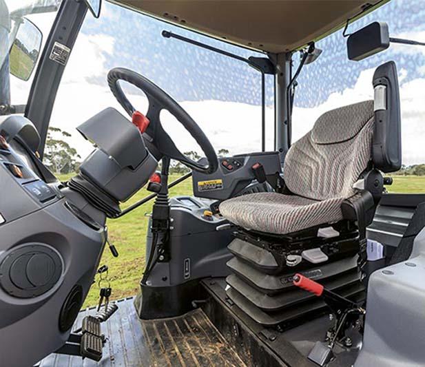 Kubota M100GX tractor cabin interior