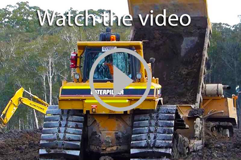 Cat D6R swamp dozer video
