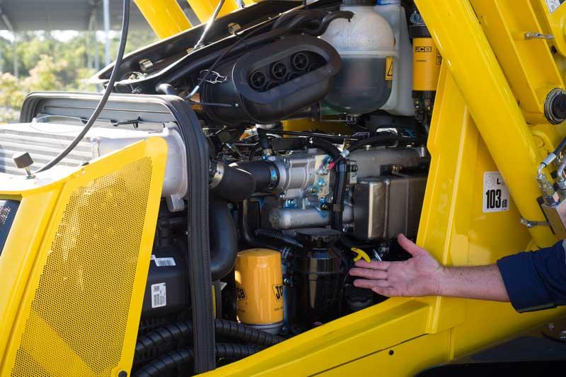 JCB 3CX backhoe engine