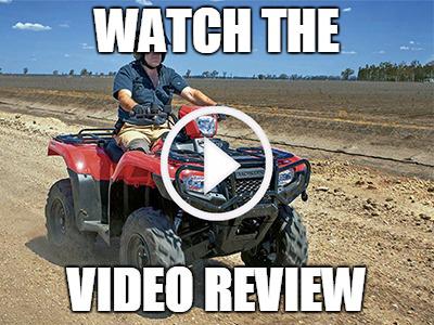 Honda TRX500 ATV review