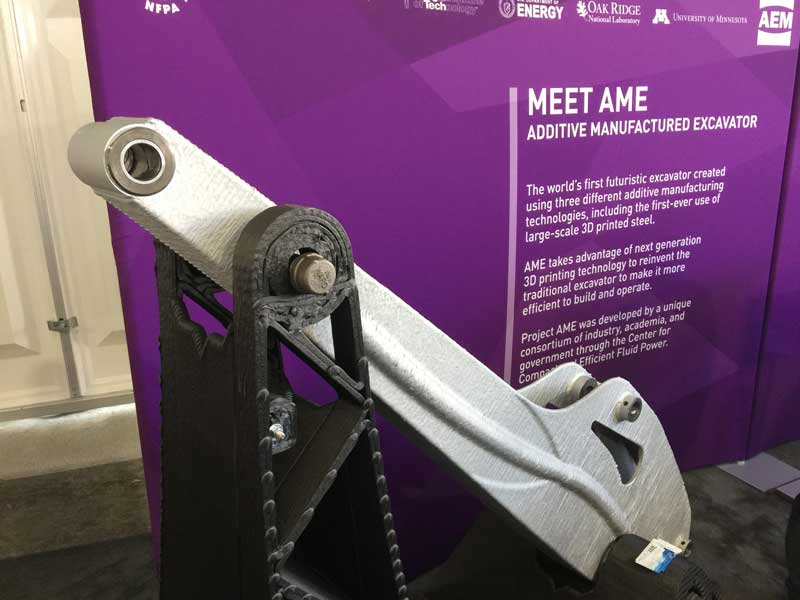 3D printed articulated arm