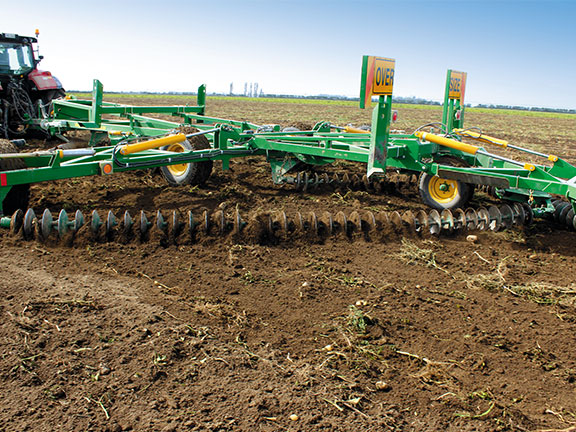 Levelling potato ground can be difficult, but the Diamond Harrow did a good job