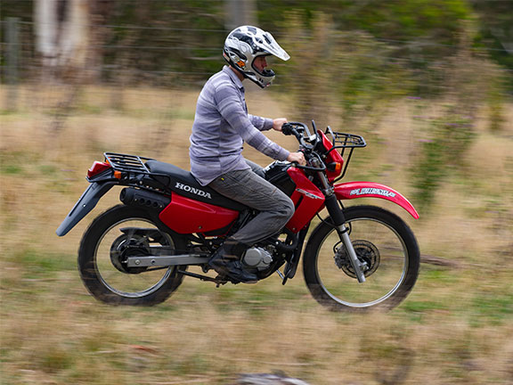 The CTX200 quickly inspires rider confidence, even on a particularly rough surface
