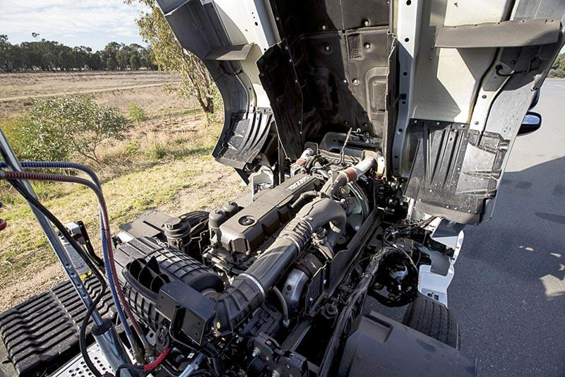 Paccar MX-13 engine on a DAF CF85