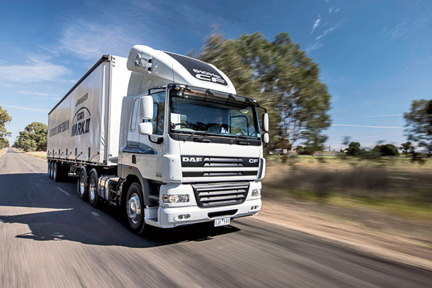 DAF CF85 on the road