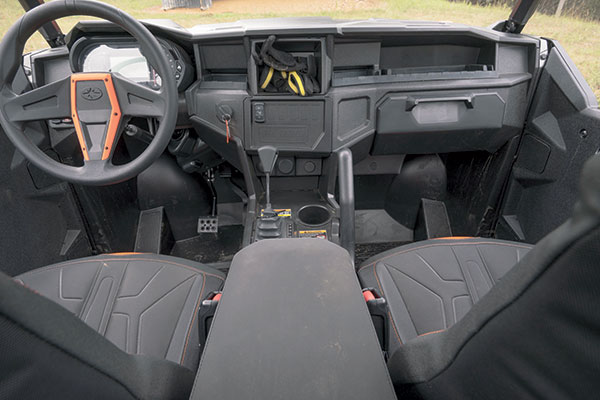 The spacious cab of the General MLP