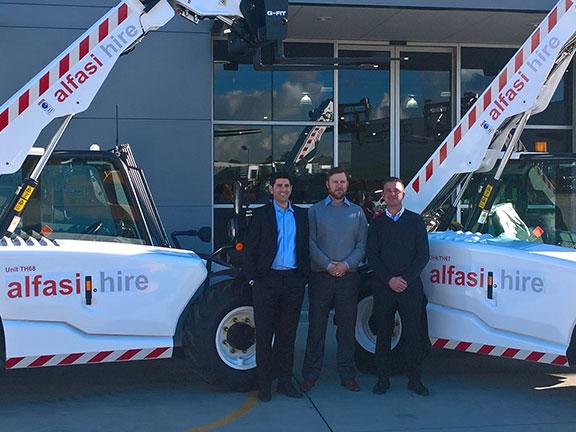 Alfasi receiving their new JCB 525-60 Agri Plus telehandlers