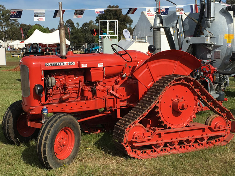 The Nuffield 460 shows its tracks