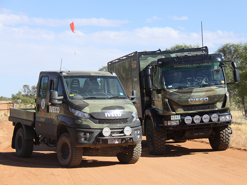 The little Iveco Daily 4x4 also came along for the ride. This thing's no slouch in the sand