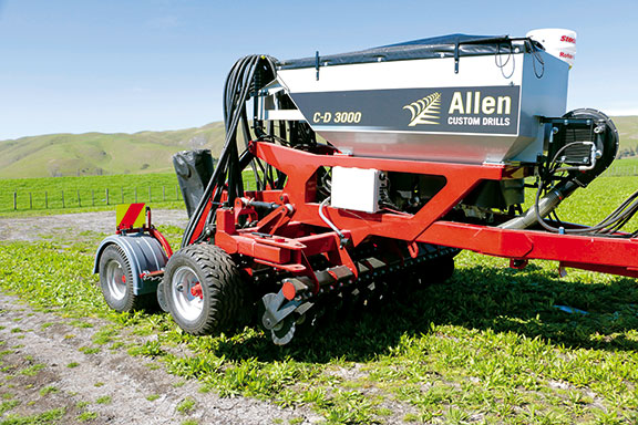 The Allen CD 3000 drill side on