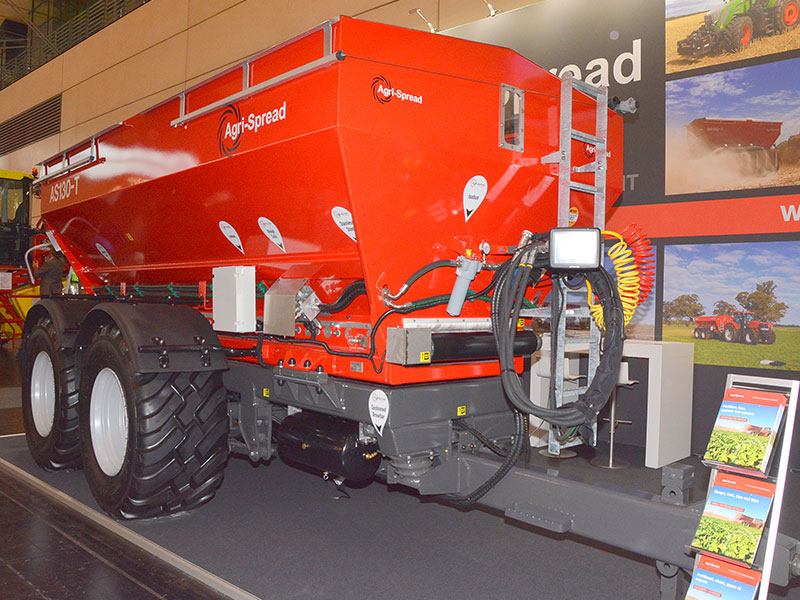 The Agrispread AS130T on display