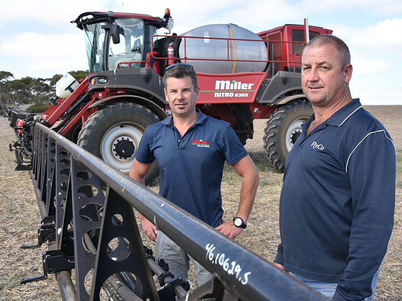 Mark and Phil inspect the Miller 6365 sprayer
