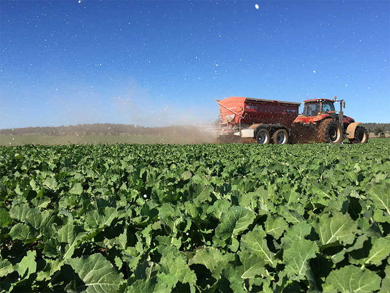 Agri-Spread AS150T tandem-axle spreader in Australia