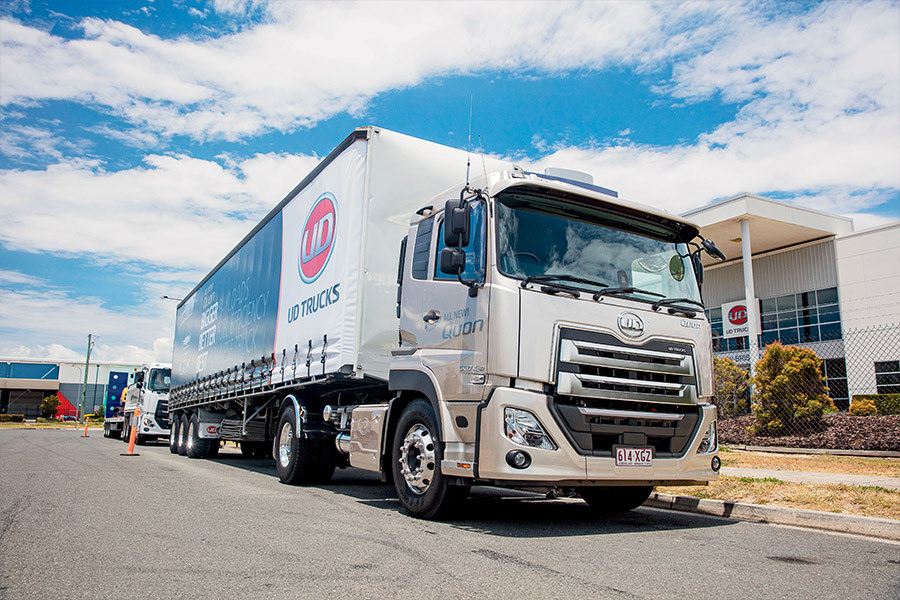 Life in the 'burbs. Single-drive prime mover, truck and three-axle dog, and 6x2 rigid were particularly impressive in a day-long drive program around Brisbane