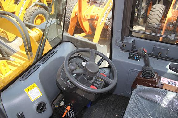 Inside the HC-800B cab
