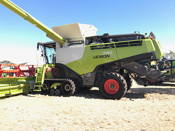 The Claas Lexion 770 combine harvester at Wimmera