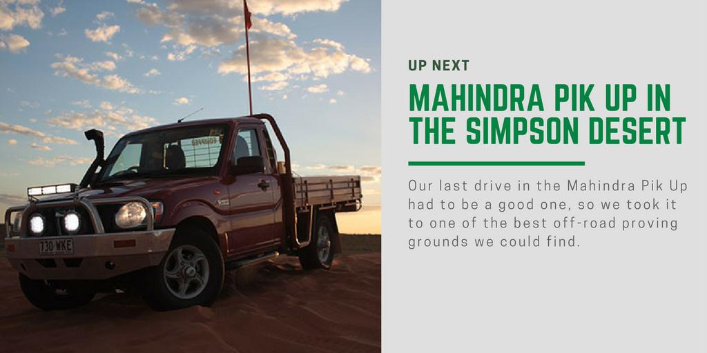 Mahindra Pik Up Review Simpson Desert