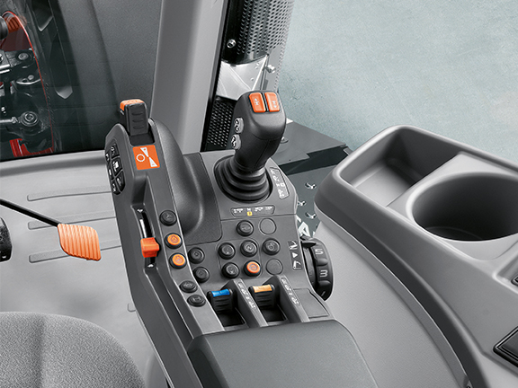 The Claas Axion 810's multifunctional armrest
