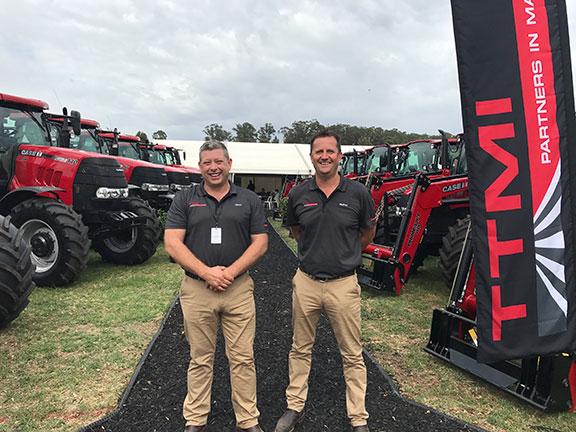 Jason Henry (left) and Murray Tuck (right) of TTMI tractors