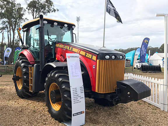The Versatile Model 320 tractor side on